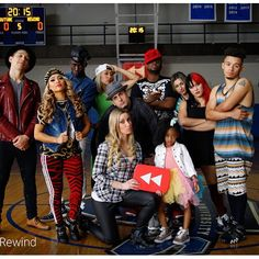 Another shot from #YouTubeRewind Which was your favorite era of clothing that we wore?