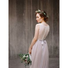 Princess Cut Wedding Dress with Layered Tulle Skirt Martina Liana ❤ liked on Polyvore featuring dresses and wedding dresses
