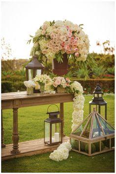 Karla and Andrew's Wedding, Montage Laguna Beach   Details Details - Wedding and Event Planning, garden style wedding, garden elegance, garden roses, overflowing lush floral, lanterns wedding, moss balls