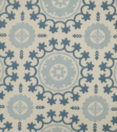Upholstery Fabric-Eaton Square Sudan-Denim Medallion, , hi-res