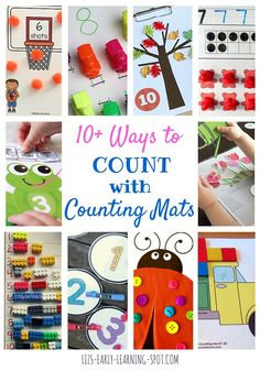 10 Ways to Count with Counting Mats: Free and DIY | Liz's Early Learning Spot