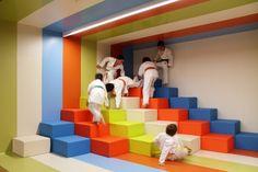 View the full picture gallery of Kalorias Health Club Children's Space Kids Play Spaces, Kids Play Area, Learning Spaces, Kindergarten Interior, Kindergarten Design, Kids Salon, Design Jardin, Multipurpose Room, Kids Zone