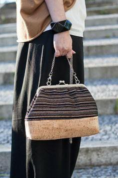cork bag, carteira de cortiça