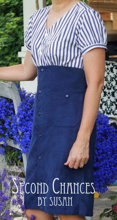 Second Chances by Susan: Nautical Inspired Dress Refashion