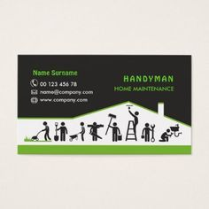 Handyman services home maintenance business card - office ideas diy customize special Maintenance Logo, Home Maintenance Schedule, Unique Business Cards, Business Logo, Business Card Design, Pressure Washing Business, Handyman Logo, Visiting Card Design, Name Cards
