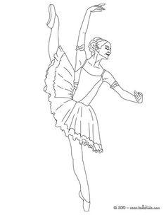 Ballerina Performing Beautiful Degage Coloring Page
