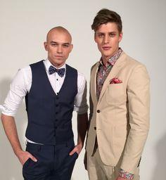 Jakob Kosel i Adam Kaszewski w lookbooku Vistula wiosna-lato 2016, backstage, fot. ELLE.pl