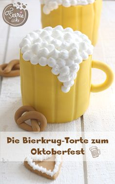 O'zapft is! Das Oktoberfest oder besser die Wies'n steht an! Bringen Sie… O & # taps! The Oktoberfest or better the Wiesn is on! Beer Recipes, Cake Recipes, Lemon Torte, Krishna Birthday, Beer Mug Cake, Foundant, Cool Cake Designs, Cakes For Men, Fondant Cakes