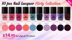 10 Piece Nail Lacquer Set: Flirty Collection! =D
