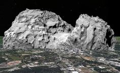 HUGE COMET: Toward the Ground With Mysterious sounds and Hellish (Video)