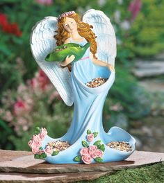Angel Bird Feeder Garden Sculpture