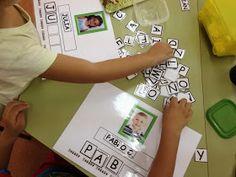 Student Names-Word Work Center Word Work Centers, Literacy Centers, Creative Activities For Kids, Crafts For Kids, Name Practice, Name Activities, File Folder Games, Teachers Corner, Preschool Letters