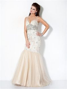 Mermaid Sweetheart Beading Tulle 2013 Prom Dresses