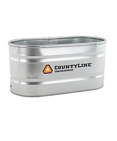 Galvanized water trough for raised bed gardening