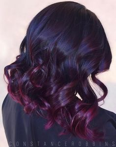 Black+Hair+With+Burgundy+Highlights