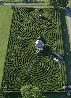 hedge maze made of 16,000 yew trees on 1.48 acres.