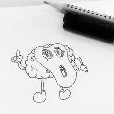Mr.Brain #brain #illustration #draw #drawings #ink #pencil #pen #chineseink #art #cartoon #cartoons  Illustration October 2015
