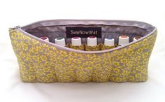 NEW Large Yellow and Grey Flower Essential Oils by SewNowWat, $25.99