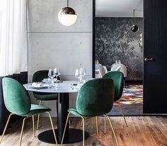 Jewel Green Beatle Chairs, Gubi Official