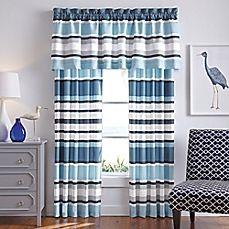 image of Cabana Stripe Window Treatments in Blue
