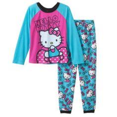 Hello Kitty Raglan Pajama Set - Girls
