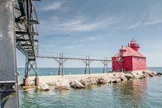 Lighthouse in Sturgeon Bay Wisconsin.