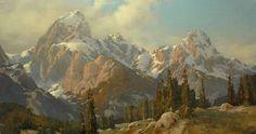 "cindy baron fine art paintings   Evening Hike, Taggart Lake"""