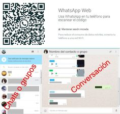 WhatsAppWeb. codigo QR y pantalla