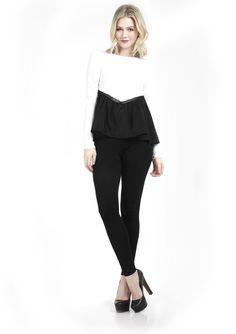 The Doris Trim Top- Black and White