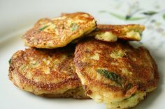 Gluten Free Zucchini- Potato Pancakes. Find a way to make these without frying.
