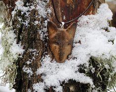 Bone wolf head pendant/necklace