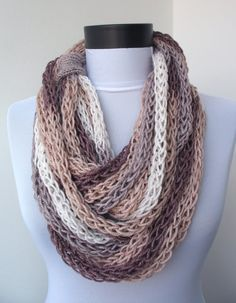finger knit scarf - Google Search