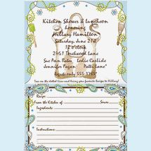 bridal shower invitation for kitchen shower themes guests are sent two recipe cards in