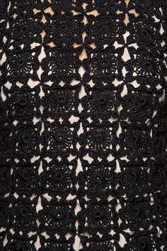 Vestido Crochet Seventy Preto - Vanessa Montoro - vanessamontoro