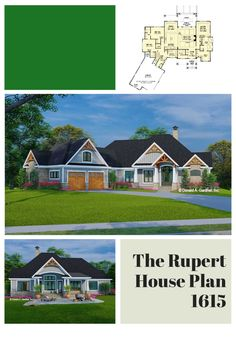 The Rupert house plan 1615 is now in progress! 2432 sq ft | 3 Beds | 2.5 Baths This one-story Craftsman design features a courtyard entry garage and is adorned with arched gable brackets, tapered columns, and stone. An open configuration promotes easy living inside with a cozy great room, island kitchen, spacious dining room, and a relaxing rear porch. In the master suite, find a luxury bathroom and a massive walk-in closet. #wedesigndreams #craftsmanhouseplan Gable Brackets, Courtyard Entry, First Story, Conceptual Design, Simple Living, All Design, Great Rooms, Master Suite, Craftsman