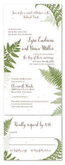 Fern Wedding Invitations   Lovely Fern