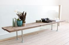 Interclamp galvanised pipe fittings used to make a table. Shop our Hammersmith range online.