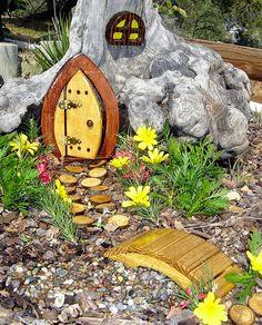 gnomb gardens | Miniature Garden, Fairy Door, Gnome Door, Hobbit Door, Elf Door, Troll ...