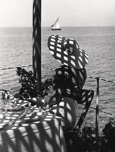at the sea..