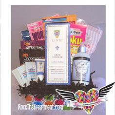 RADIATION TREATMENT BASKET - This very unique basket contains the very best products available to repair skin damaged from radiation therapy. This basket without a doubt will help your friend or family member to....ROCK their TREATMENT!  COST $125.00 CLICK HERE: http://www.rockthetreatment.com/radiation-baskets/