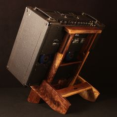Curly Walnut Atlas Amp Stand with Extendable Backrest - Built for a Mesa Boogie Lone Star Special