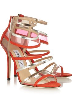 4314b23c8bf7 Jimmy Choo - Maitai suede and Perspex sandals