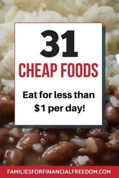 I love these cheap food ideas to slash your groceries budget! Find easy cheap food ideas! Cheap food ideas for inexpensive meals! Frugal food ideas for dinners! Cheap food ideas for kids or for two. Great cheap food ideas for families! Cheap food ideas shopping lists. Cheap food for lunches. #cheapfood #cheapmeals #cheapmealsonabudget #cheapmealsprep #cheapdinners #savemoney #savemoneyongroceries #savemoneyonfood #budgeting #moneysavingtips #frugal #budget #money #savingmoney #frugalliving
