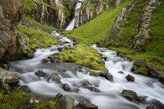Unnamed Waterfall and Rapids - Iceland by Andrew Storey on 500px