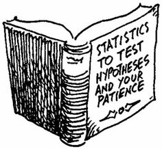 Statistics: To test hypotheses and your patience.