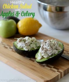 Chicken Salad with Apples and Celery - creamy, crunchy and delicious!