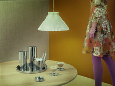STELTON : Arne Jacobsen decades campaign Styling by Anne Marie Raaschou-Nielsen Ice Tongs, Arne Jacobsen, Minimalist Design, Danish, Martini, Mixer, Designer, Modern Furniture, Mid Century