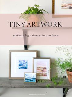 Tiny Artwork making a big impact in your home. Kendra Castillo. Tiny home? no problem, make a huge impact with small scale artwork! heres how... Pallet Painting, Love Painting, Painting Frames, Love Frames, Small Paintings, Small Art, Framed Artwork, Gallery Walls, Original Artwork