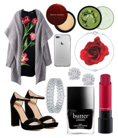 """""""Rose Ready"""" by chappygirl2001 ❤ liked on Polyvore featuring Dolce&Gabbana, Pour La Victoire, MAC Cosmetics, Butter London, The Body Shop, Effy Jewelry and Elsa Peretti"""