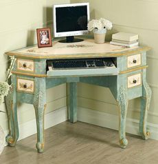 amalia-corner-writing-desk.jpg - love this corner desk - so much nicer than usual boring looking ones ....mmmmm, wonder if one could make one from a regular desk?